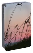A Deep Pink Sunset Portable Battery Charger
