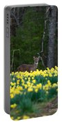 A Deer And Daffodils 4 Portable Battery Charger