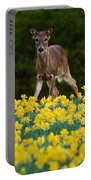 A Deer And Daffodils IIi Portable Battery Charger