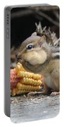 A Delicious Treat - Chipmunk Eating Corn Portable Battery Charger