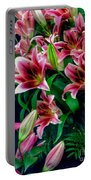 A Display Of Lilies Portable Battery Charger