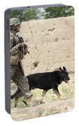 A Dog Handler Of The U.s. Marine Corps Portable Battery Charger