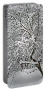 A Dogwood Sleeps While The Snow Falls Portable Battery Charger