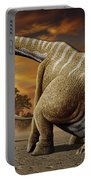 A Female Apatosaurus Laying Her Eggs Portable Battery Charger