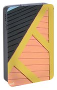 A-frame In Pastel Pink And Harvest Gold Yellow Portable Battery Charger