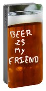 A Friendly Beer Portable Battery Charger