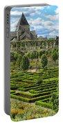 A Garden View At Chateau De Villandry Portable Battery Charger