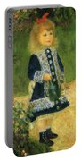 A Girl With A Watering Can 1876 Portable Battery Charger