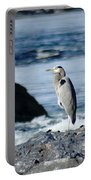A Great Blue Heron At The Spokane River Portable Battery Charger