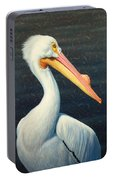 A Great White American Pelican Portable Battery Charger