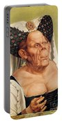 A Grotesque Old Woman Portable Battery Charger