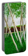 A Grove Of Birches 1 Portable Battery Charger