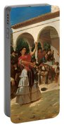 A Gypsy Dance In The Gardens Of Alcazar Portable Battery Charger