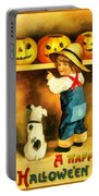 A Happy Halloween Puppy Portable Battery Charger