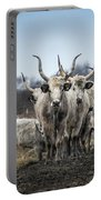 Grey Cattle Herd Portable Battery Charger