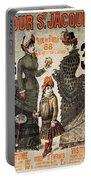 A La Tour St.jacques - Rue De Rivoli - Vintage Fashion Advertising Poster - Paris, France Portable Battery Charger