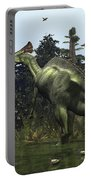 A Lambeosaurus Rears Onto Its Hind Legs Portable Battery Charger