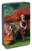 A Little Girl And Her Dragon Portable Battery Charger