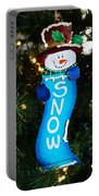 A Long Snow Ornament- Horizontal Portable Battery Charger