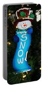 A Long Snow Ornament- Vertical Portable Battery Charger
