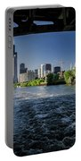 A Look At The Chicago Skyline From Under The Roosevelt Road Bridge  Portable Battery Charger