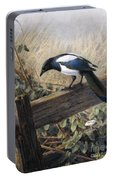 A Magpie Observing Field Mice Portable Battery Charger