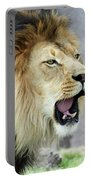 A Male Lion, Panthera Leo, Roaring Loudly Portable Battery Charger