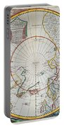 A Map Of The North Pole Portable Battery Charger by John Seller
