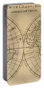 A Map Of The World With The Voyage Of Robinson Crusoe Portable Battery Charger