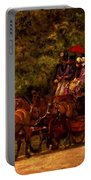 A May Morning In The Park The Fairman Robers Four In Hand 1880 Portable Battery Charger