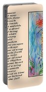 A Moment - Poetry In Art Portable Battery Charger