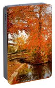 A Morning In Autumn - Lake Carasaljo Portable Battery Charger