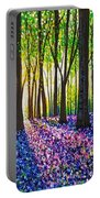 A Morning Walk Through Bluebells Portable Battery Charger