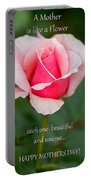 A Mother Is Like A Flower Portable Battery Charger