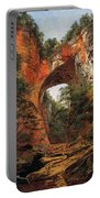 A Natural Bridge In Virginia Portable Battery Charger by David Johnson