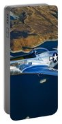 A North American P-51d Mustang Flying Portable Battery Charger