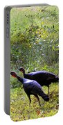 A Pair Of Wild Turkeys Portable Battery Charger