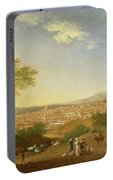 A Panoramic View Of Florence From Bellosguardo Portable Battery Charger