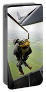 A Paratrooper Executes An Airborne Jump Portable Battery Charger