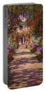 A Pathway In Monets Garden Giverny Portable Battery Charger