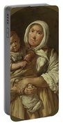 A Peasant Mother With Her Child In Her Arms Portable Battery Charger