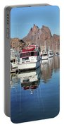 A Pelican Lands In The Old San Carlos Marina, Guaymas, Sonora, M Portable Battery Charger