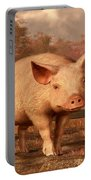 A Pig In Autumn Portable Battery Charger
