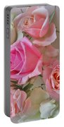 A Plate Of Roses Portable Battery Charger