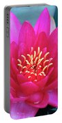 A Red And Yellow Water Lily Flower Portable Battery Charger