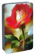 A Red Rose For Amelia Portable Battery Charger