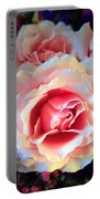 A Romantic Pink Rose Portable Battery Charger