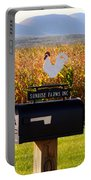 A Rooster Above A Mailbox 1 Portable Battery Charger