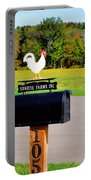 A Rooster Above A Mailbox 3 Portable Battery Charger