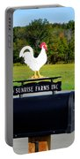 A Rooster Above A Mailbox 4 Portable Battery Charger
